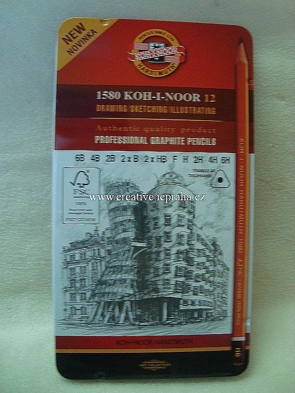 sada tužek grafitových trojboké 1582 KOH-I-NOOR