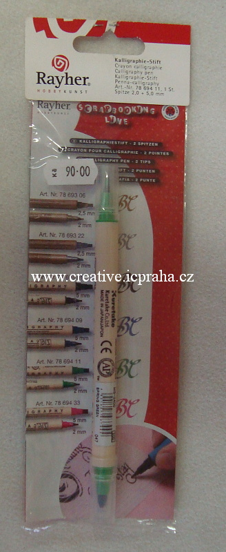 kalig.fix-2 ploché hroty (2+5mm) zelený 78-694-11