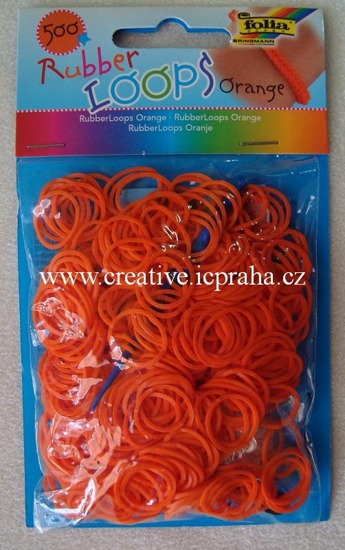 gumičky Loops- 500ks oranž - F331540