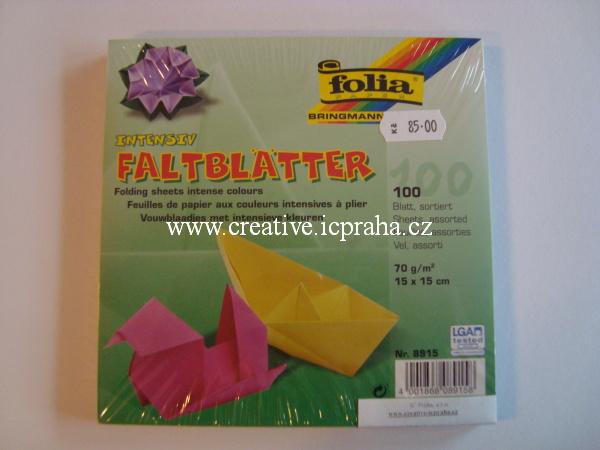 origamipapír  FOLIA 15x15cm bal.100ks 8915
