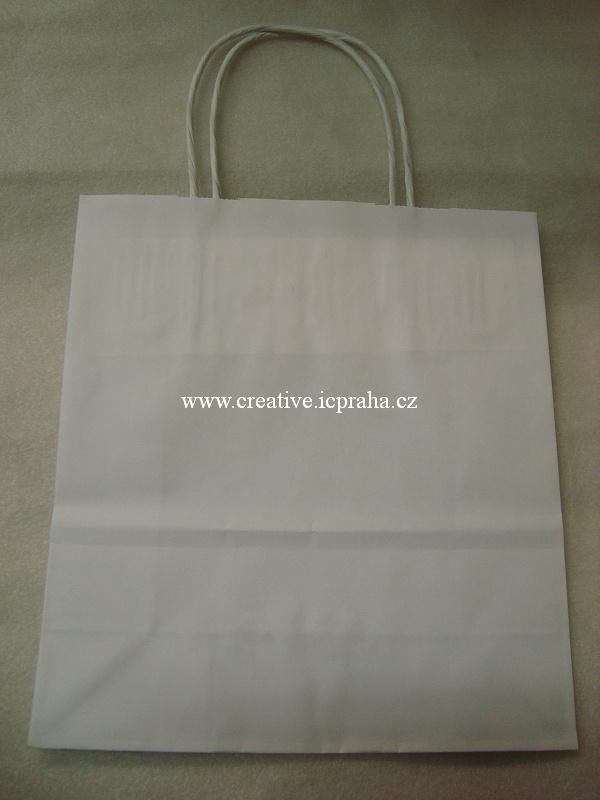 papírová taška 19x8x21cm bílá