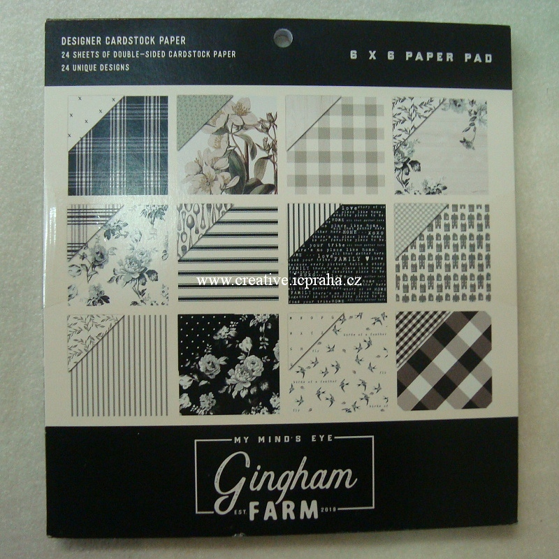 My Mind's Eye - Gingham Farm 15x15cm 24ks