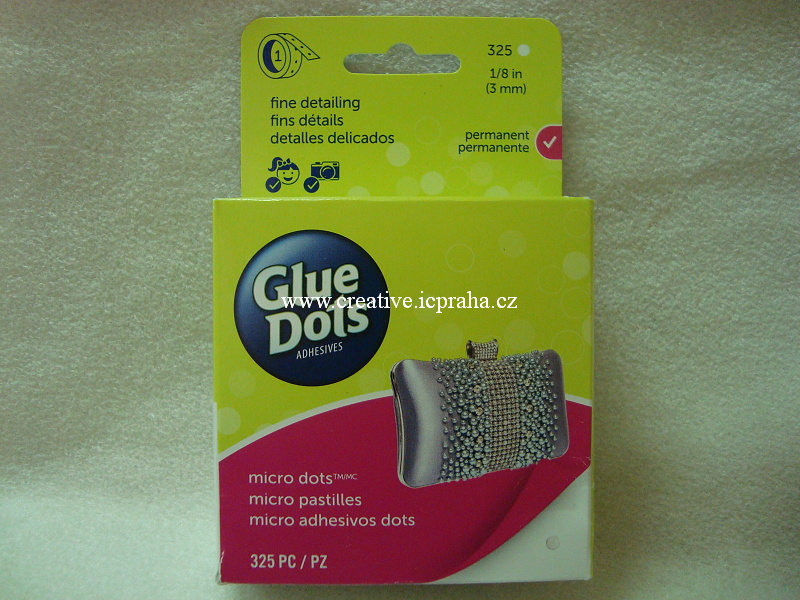 Puntíky Glue Dots - 3mm 325ks Transp.