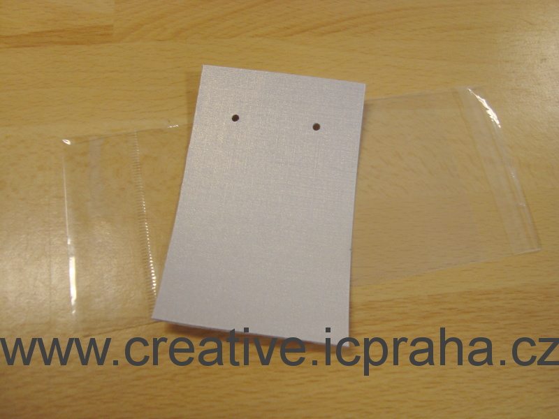 kartička+sáček na náušnice 5x8cm 1bal. 5ks