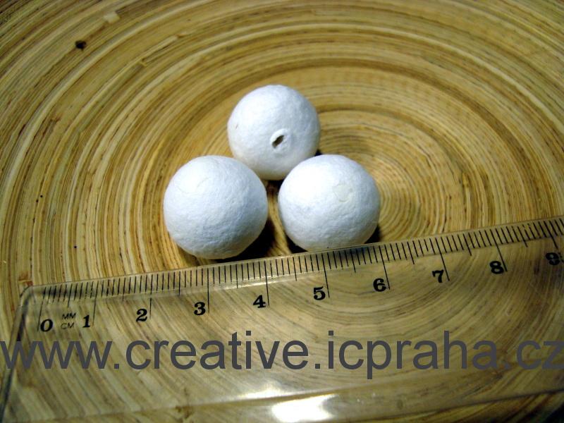 kuličky vatové - bílé 2cm 41000350/ks