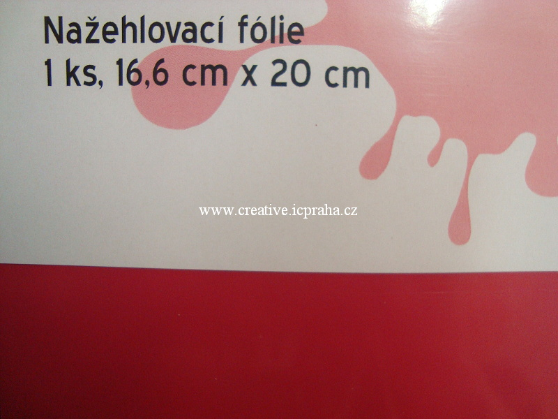 nažehl. folie - 20x16,6cm růžová cyclamen