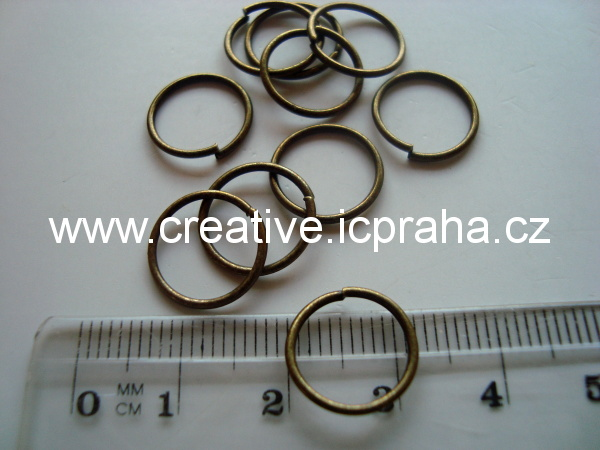 Spojovací kroužek 10mm bronz 10ks