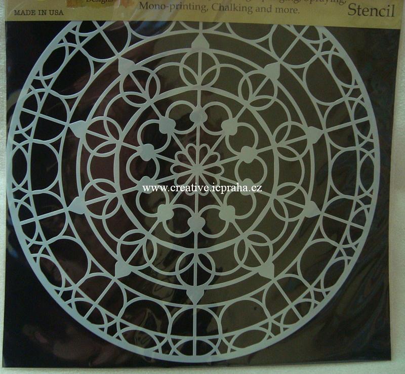 šablona plast TCW 30x30cm Mandala/Skylight