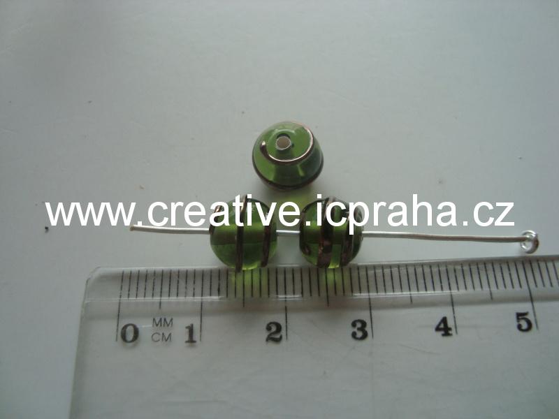 kulička zelená se spirálkou 19007 8mm