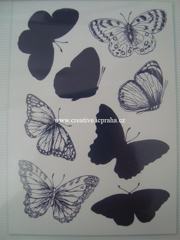 clear stamp Sara Davies -  Motýlci