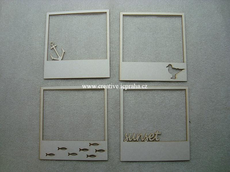 výřezy rámečky letní /4ks 9x8,5cm