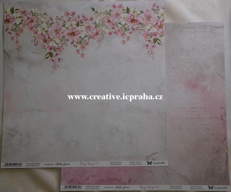 ScrapAndMe Rosy Days 03/04 30.5x30.5cm 250g/m2