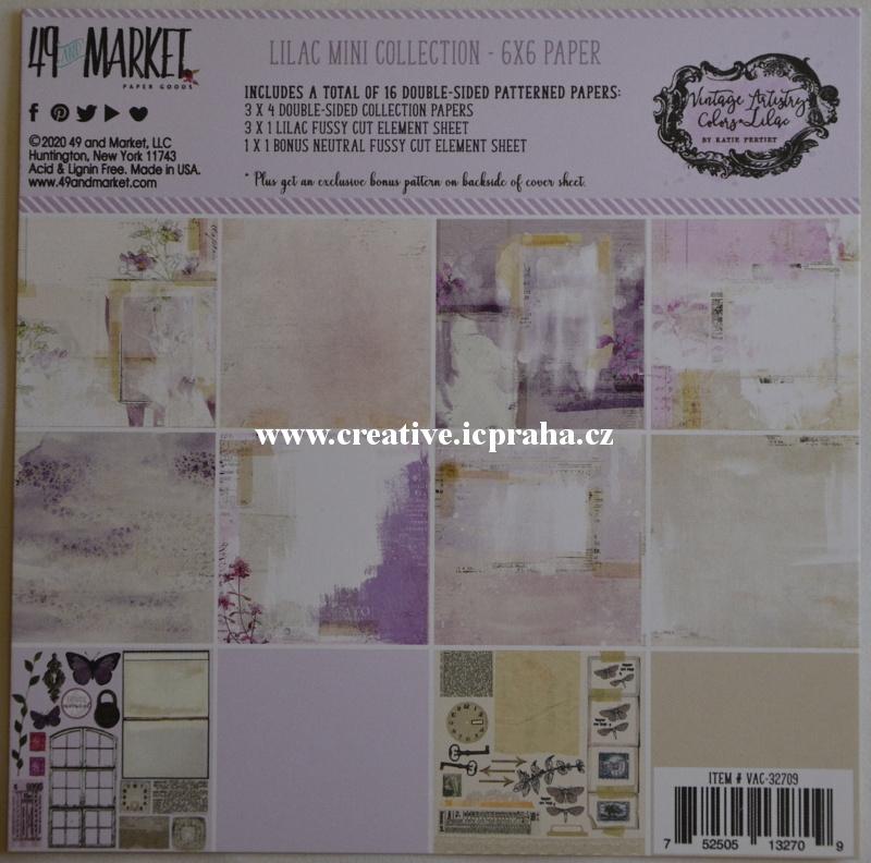 49Market - Lilac kolekce 190g/m2 16ks 15x15cm