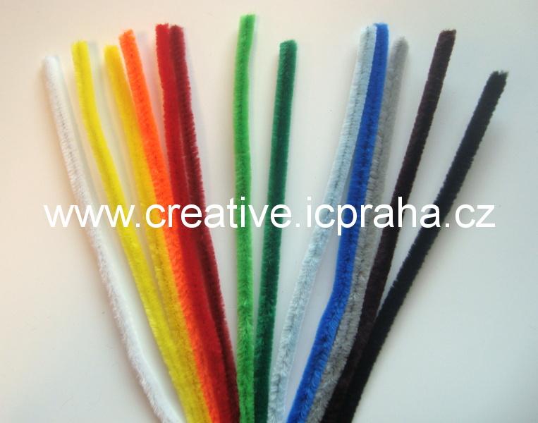chlupaté barevné drátky - 50cm