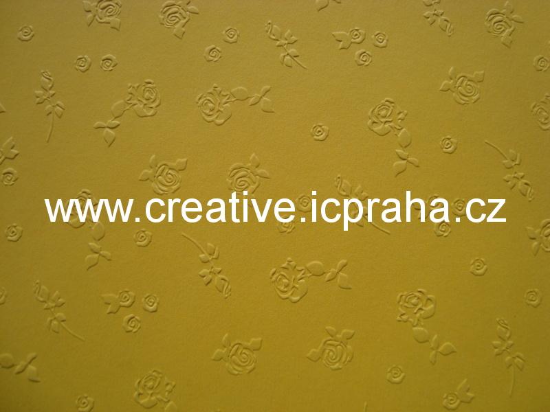 ražený papír 220g/m2 23x33cm - růže 6022309