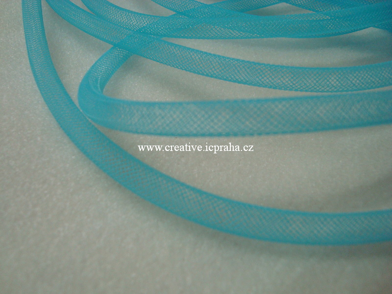 plastová dutinka prům. 8mm - modrá sv.