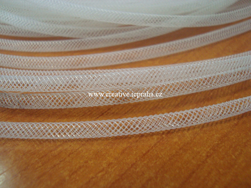 plastová dutinka prům. 4mm - bílá