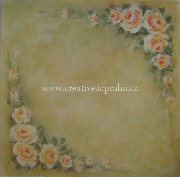 papír Crem růže  SB25   30.5x30.5cm