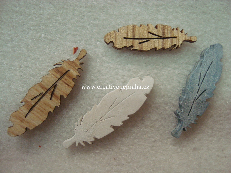 dřevo - peříčka 3-3,5cm 4ks Ry 56926000