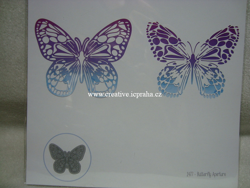 vyřezávací šablona  ElzCraft - Motýl 1477