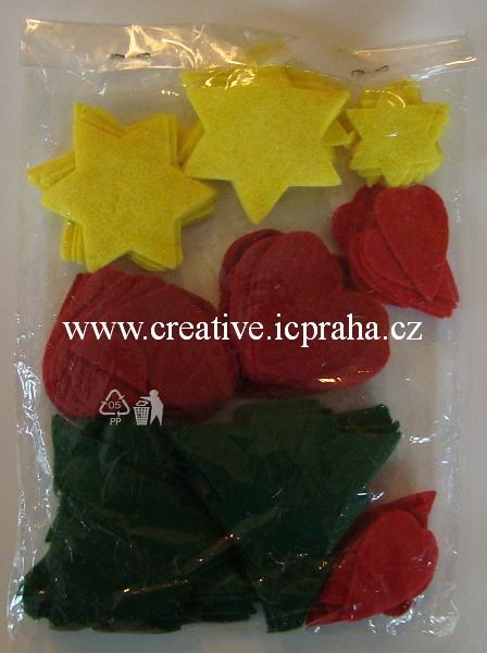 filc výseky - vánoční tvary - bal. cca100ks 99014