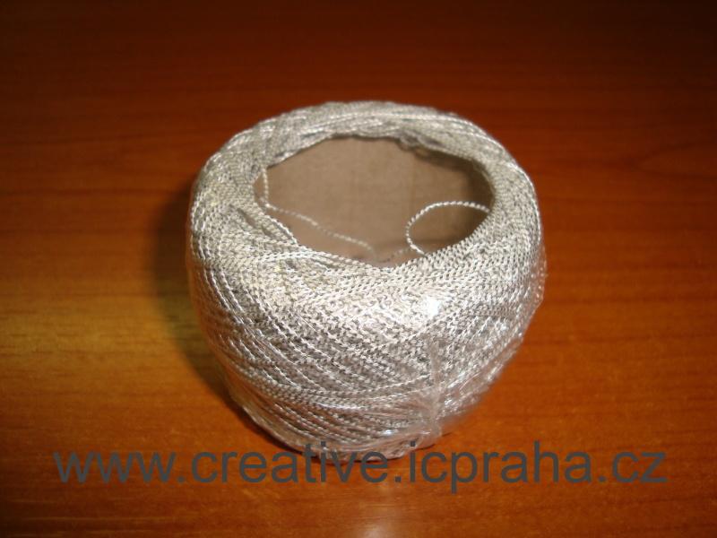 příze - stříbrná   1klubko-50m