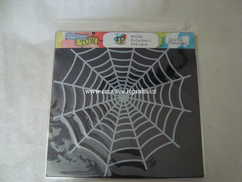 šablona plast TCW 30x30cm Spiderweb 572