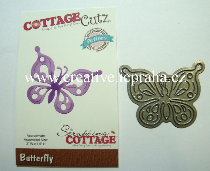 vyřezávací šablona  COTTAGE Cutz Motýl 5,5x4cm