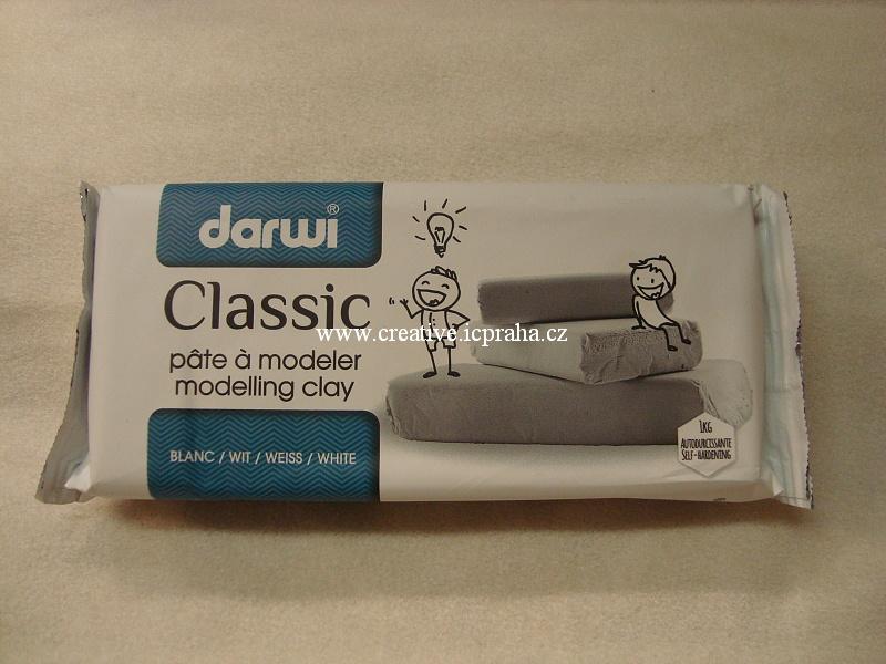 DARWI samotvrdnoucí hmota  bílá Classic 1kg