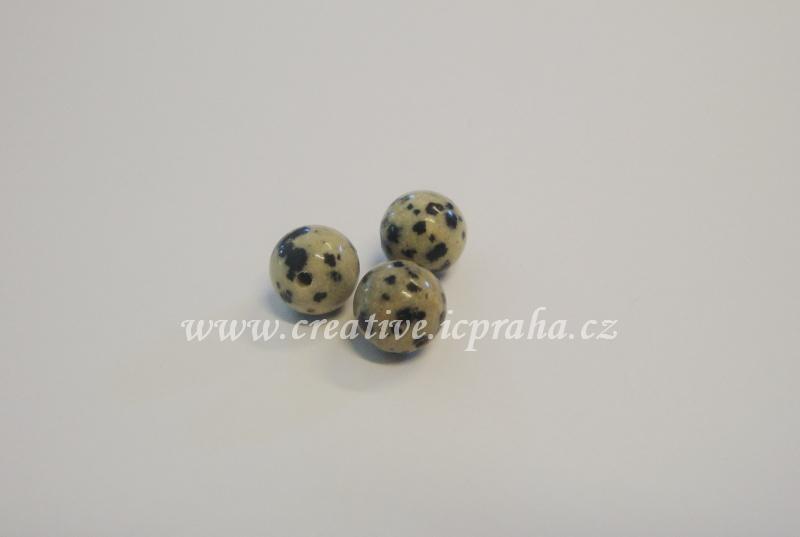 minerály kulička 8mm Jaspis dalmatin  bal.10ks