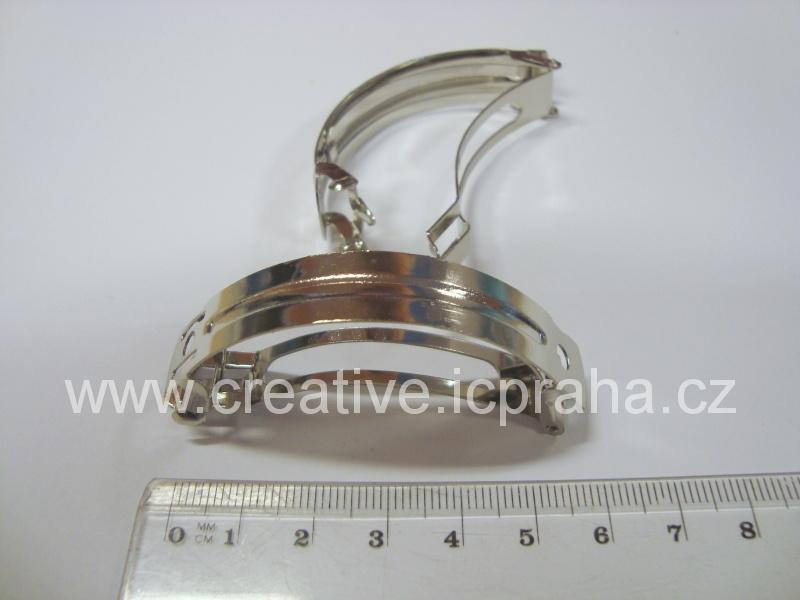 Vlasová spona francouzská 6cm oblouk1123-4-6-37800