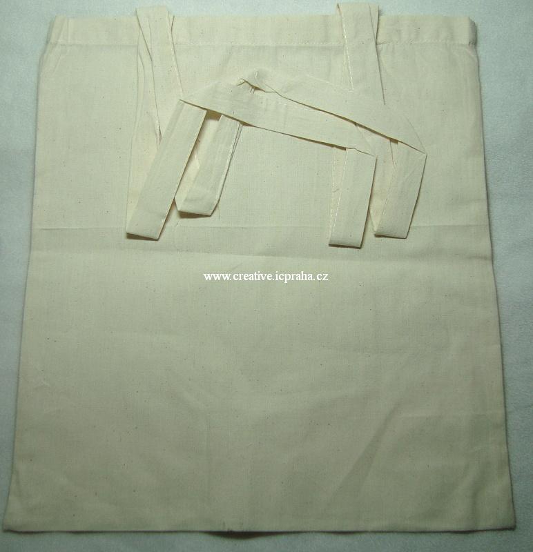 bavlněná taška 38x41cm - dlouhé ucho - natur