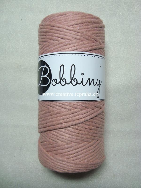 BobbinyMacrame Regular100m/3mm - růžová blush