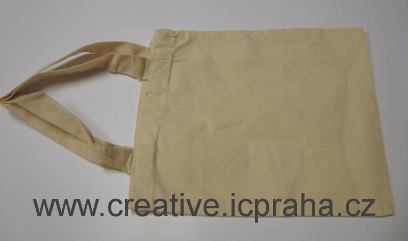 bavlněná taška - natur 25x21cm kr.ucho