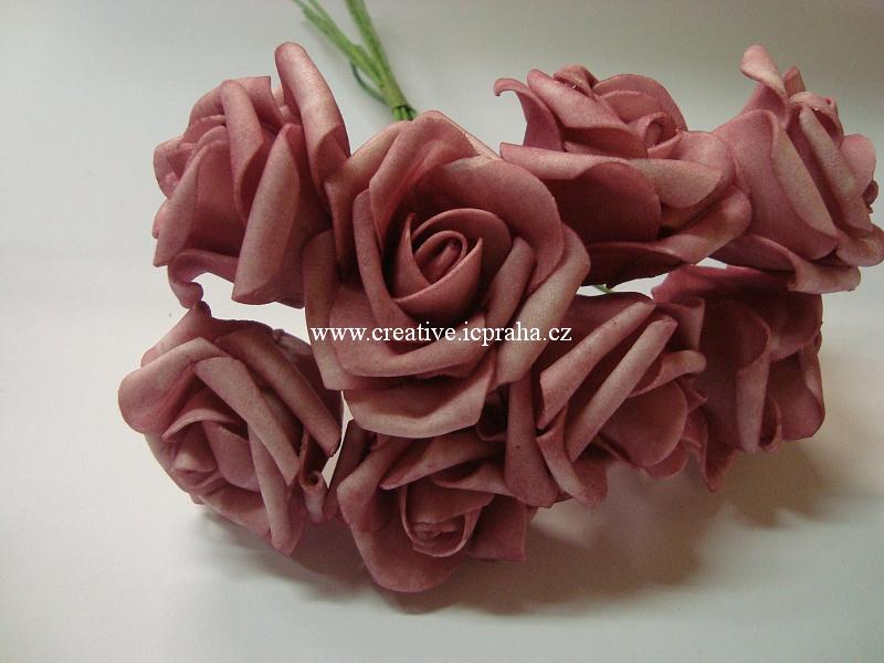 pryž - růže starorůžová 3,5x5cm