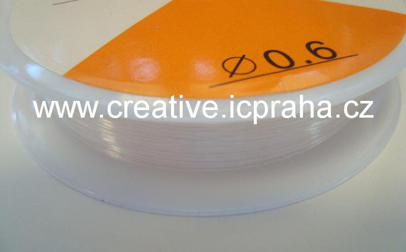 silikonová gumička 0,6mm bal. cca 10m čirá BE