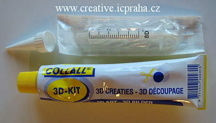 lepidlo na mozaiku - COLLALL 3D-kit set - 80ml