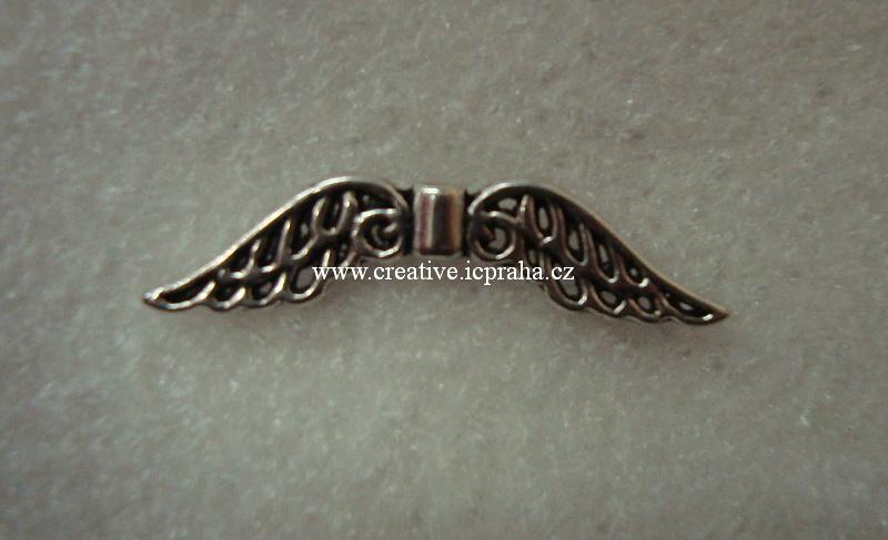křídla - anděl 32x6mm starostříbro