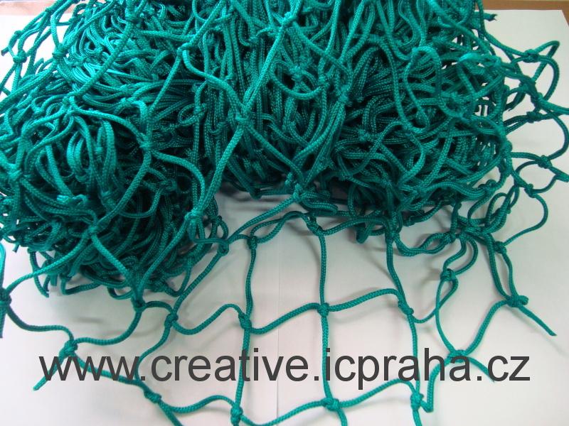 síťka uzlová 3x1m zelená sv (oko 5cm) polypropylen
