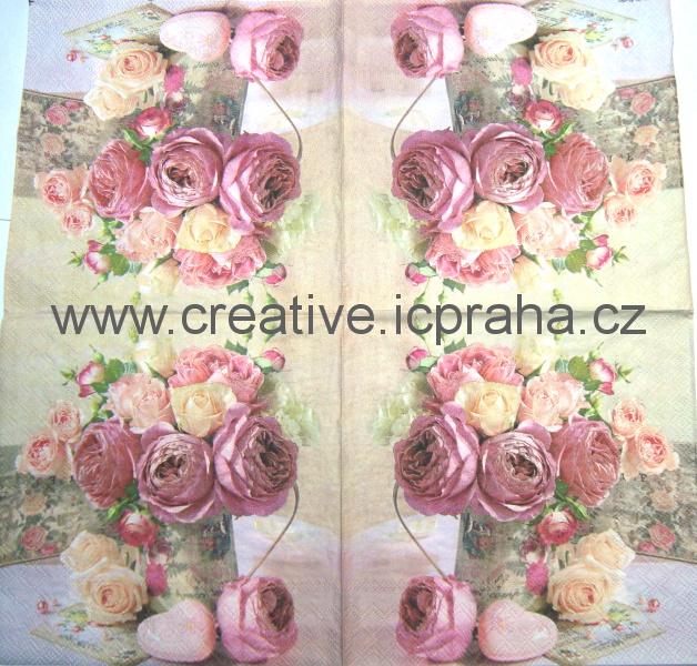 růže stolístky v konvi AMB9005