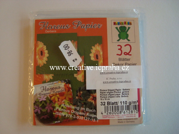 origamipapír  EFCO 10x10cm slunečnice 32listů/110g