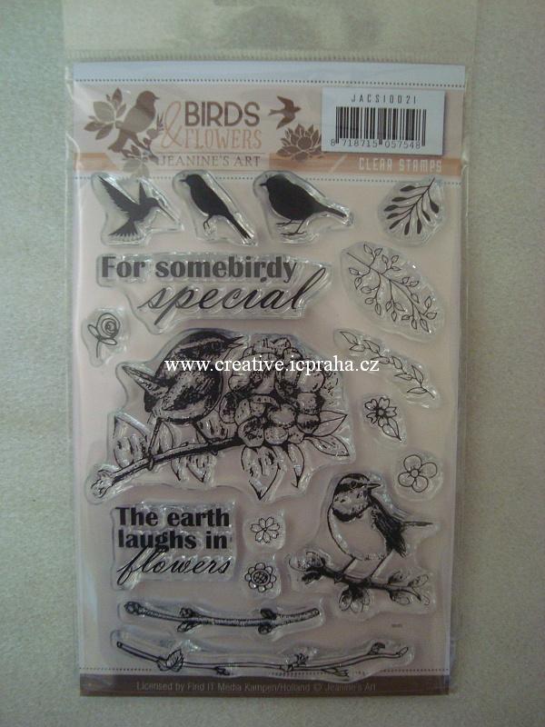 raz.clear Jeanine - Ptáčci/Birds flowers 17ks