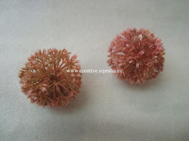 česnek - kulička růžový/zelený