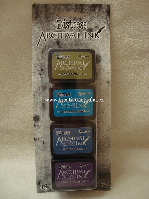 Archival Ink KIT2 - 4barvy zel.,modrá.,fialová