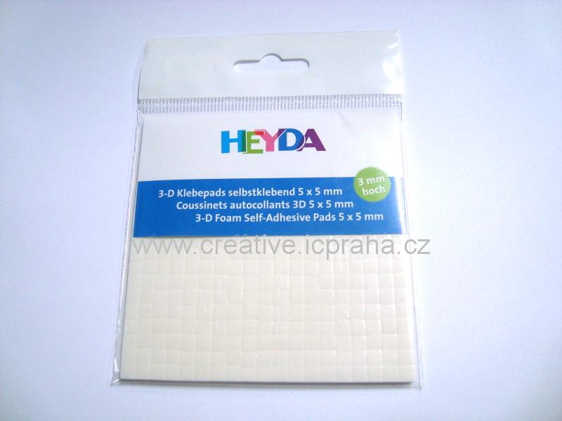 Čtverečky 3D samolep 3mm He4889003 (5x5x3mm)
