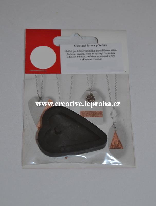 forma odlévací na šperky - Srdce 2,7 x 3,9cm