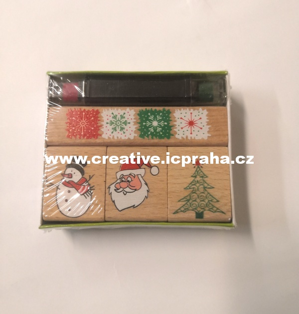 gumová razítka - vánoční 4ks He20-4888482