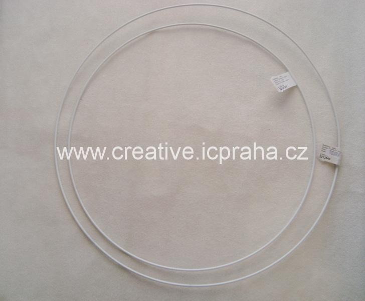 kovový kruh prům. 35cm bílý