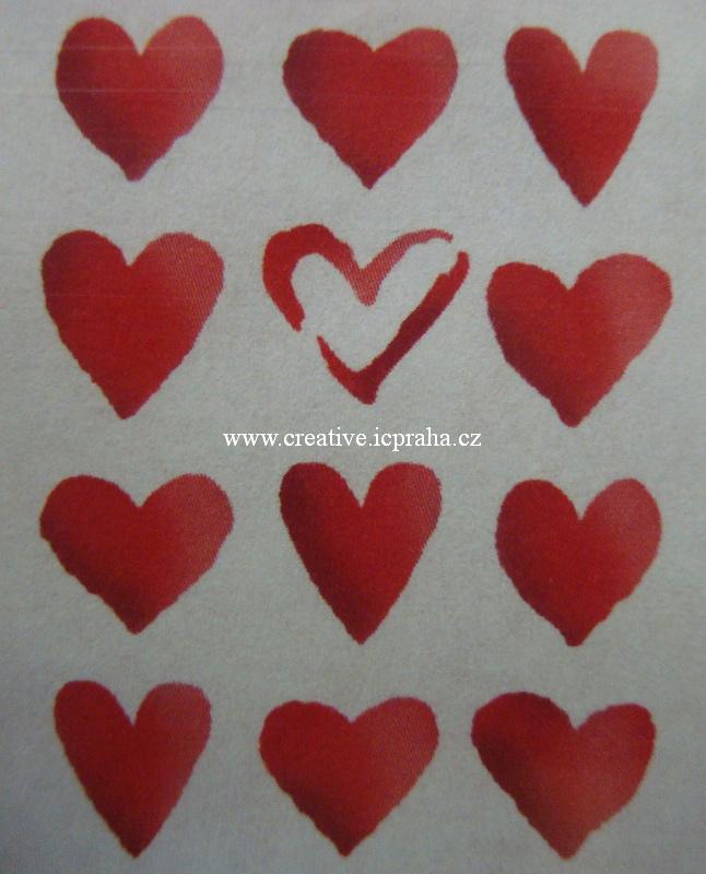 šablona plast STP A4 - Srdce SG371