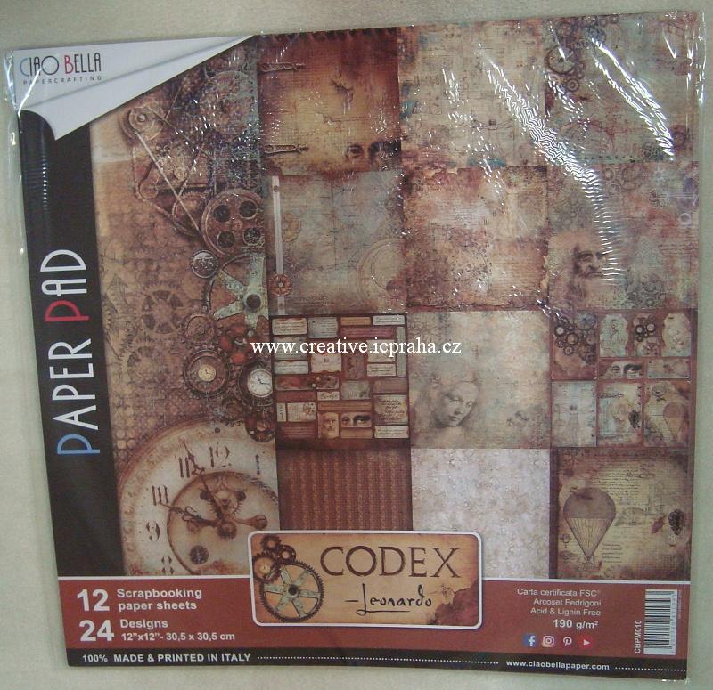 CiaoBella -Codex Leonardo 30,5x30,5cm 12ks 190g/m2